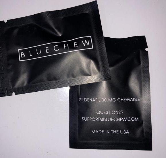 bluechew in its packaging